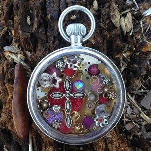 Handcrafted Antique Watch Necklace *Brand New*
